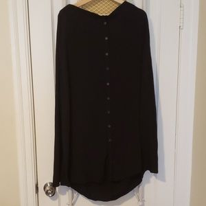 Black Button-Up Maxi Skirt